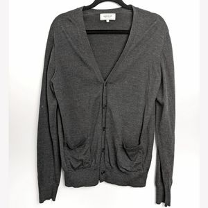 Frank & Oak grey wool cardigan